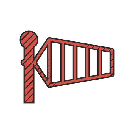 warning indicator: direction icon on white background for web