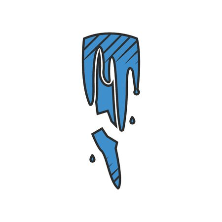 icy: cold icon on white background for web