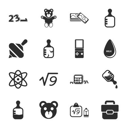 toy: toys 16 icons universal set for web and mobile flat
