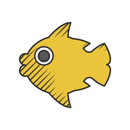 gills: fish icon on white background for web