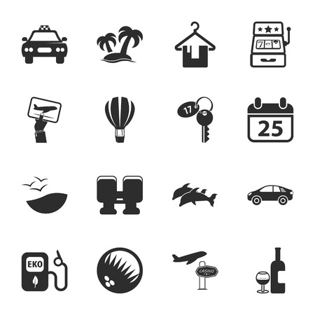 16: travel 16 icons universal set for web and mobile flat