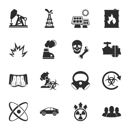 human bones: industry 16 icons universal set for web and mobile flat Illustration