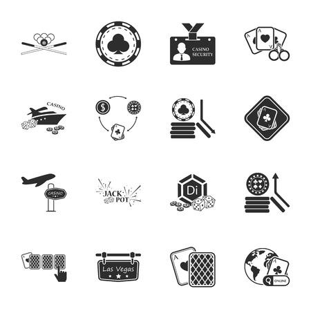 jack pot: gambling, casino 16 icons universal set for web and mobile flat