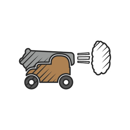 pistolas: Icono de la nave pistola sobre fondo blanco para la web