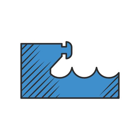 dock: dock icon on white background for web Illustration