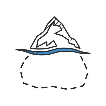 iceberg icon on white background for web Иллюстрация
