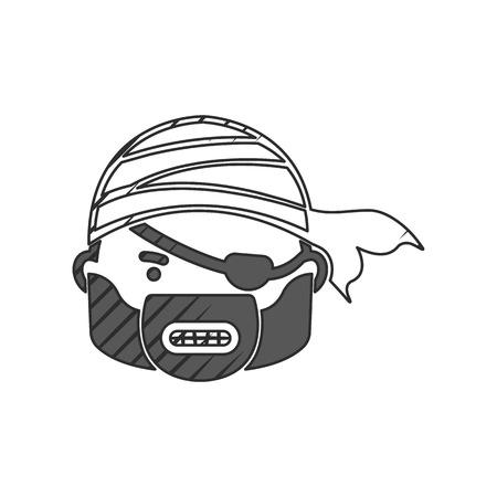 pirates: pirate icon on white background for web Illustration