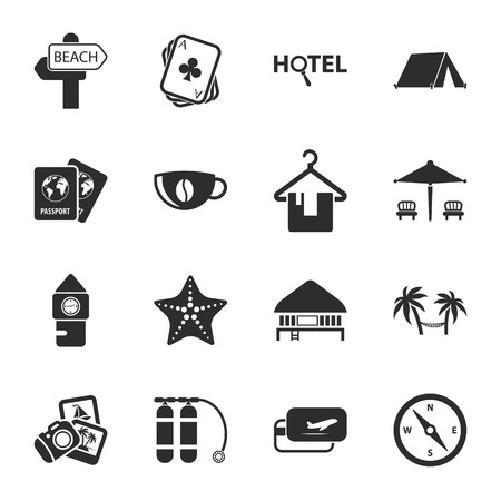 balon: travel 16 icons universal set for web and mobile flat