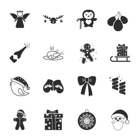 hristmas: ?hristmas 16 icons universal set for web and mobile flat