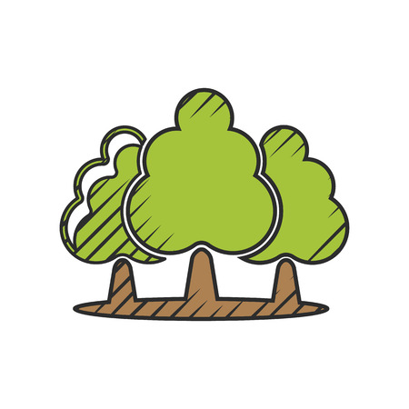 treetop: tree icon on white background for web