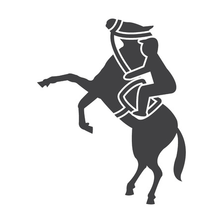 bridle: horse black simple icon on white background for web design