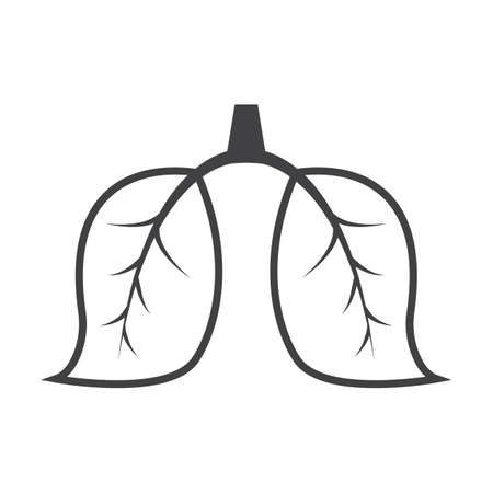 lungs: lungs black simple icon on white background for web design
