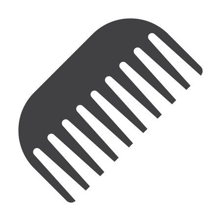 racecourse: pectination black simple icon on white background for web design Illustration