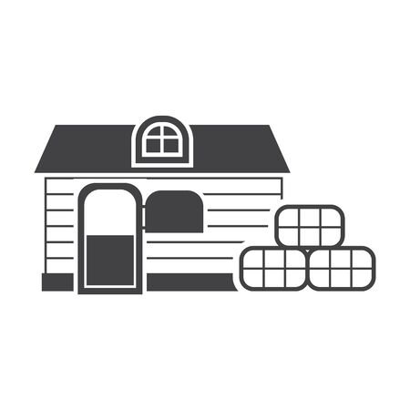 stable: stable black simple icon on white background for web design