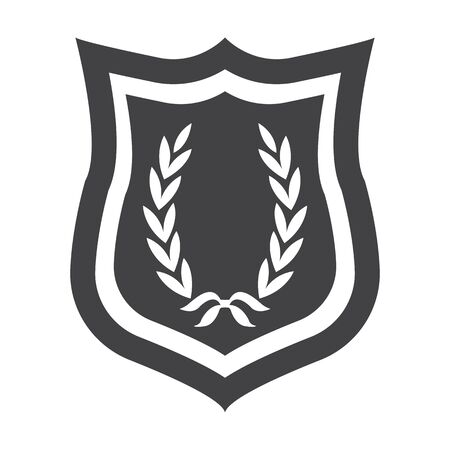 emblem racing: emblem black simple icon on white background for web design