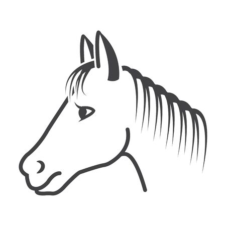 racecourse: horse black simple icon on white background for web design