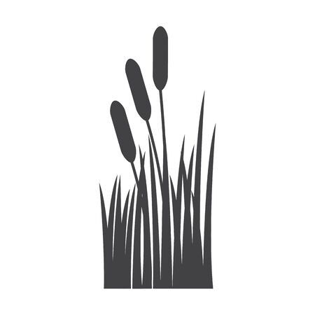 bionomics: reed black simple icon on white background for web design