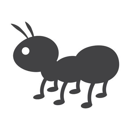 bionomics: ant black simple icon on white background for web design