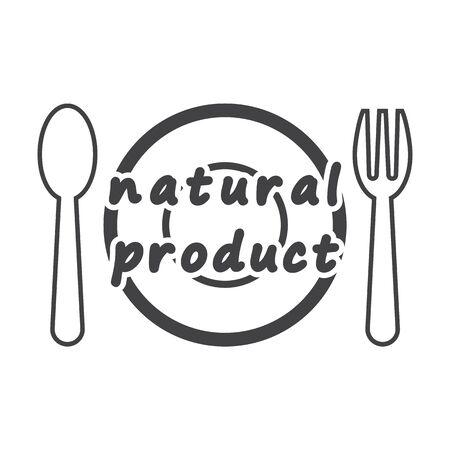 bionomics: plate black simple icon on white background for web design