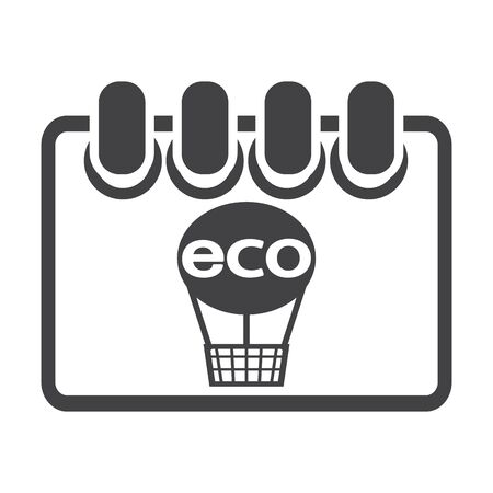 bionomics: calendar black simple icon on white background for web design