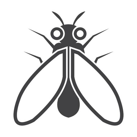 antennae: fly black simple icon on white background for web design