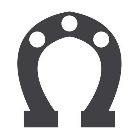 herradura: herradura negro simple icono en el fondo blanco para el diseño web