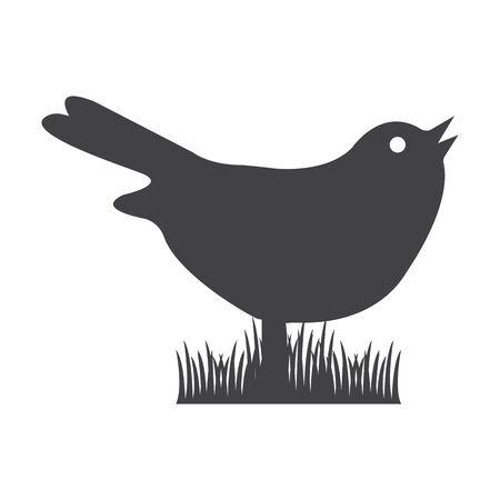 bionomics: bird black simple icon on white background for web design