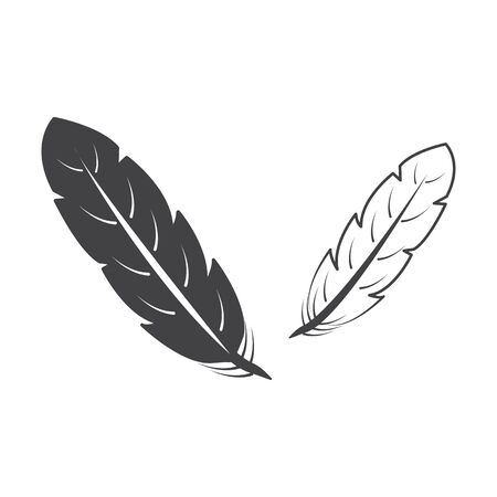 circling: feathers black simple icon on white background for web design Illustration