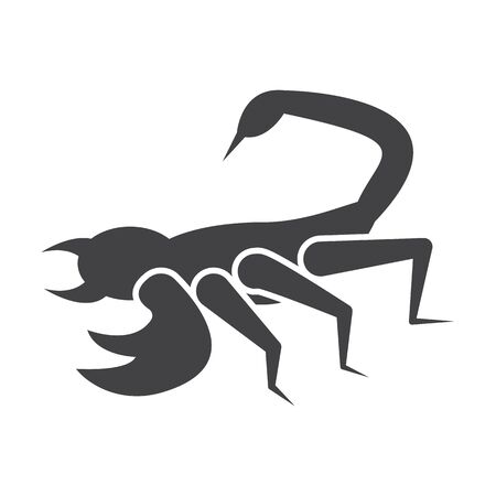 scorpion: scorpion black simple icon on white background for web design