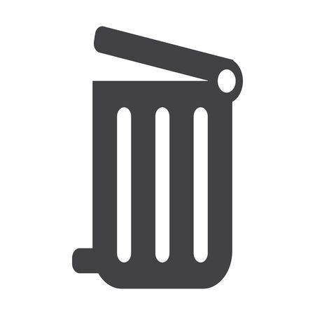 dumpster: dumpster black simple icon on white background for web design Illustration