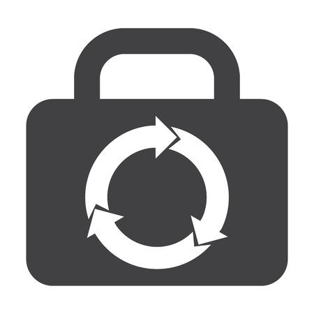 bionomics: kofr black simple icon on white background for web design Illustration