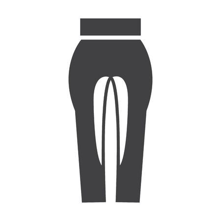 breeches: riding breeches black simple icon on white background for web design Illustration