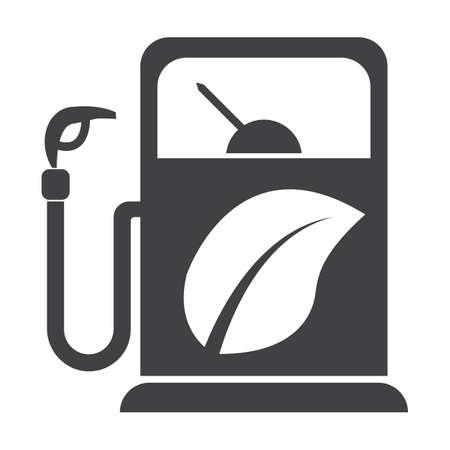 bionomics: refuelling black simple icon on white background for web design