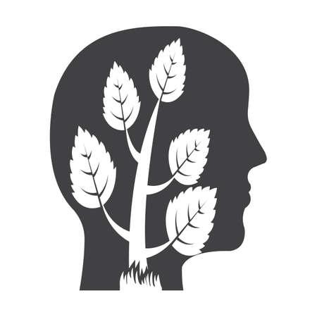 bionomics: profile black simple icon on white background for web design Illustration