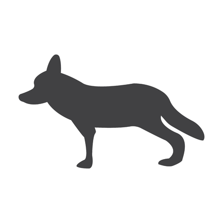 coyote: coyote black simple icon on white background for web design