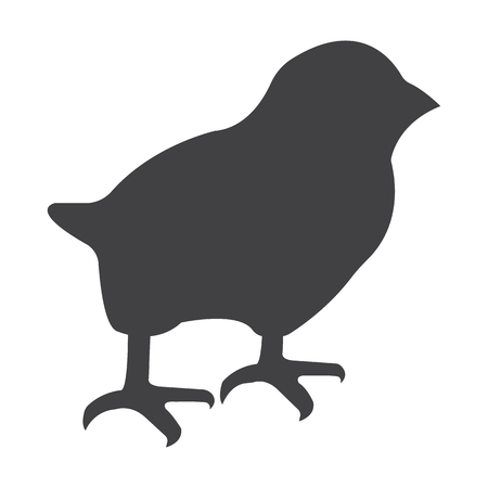 chick: chick black simple icon on white background for web design Illustration