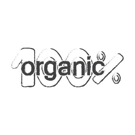 bionomics: lettering black simple icon on white background for web design