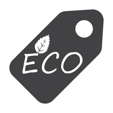 bionomics: tag black simple icon on white background for web design