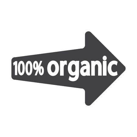 bionomics: arrow black simple icon on white background for web design Illustration