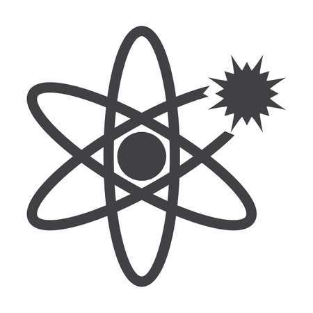 bionomics: atom black simple icon on white background for web design Illustration
