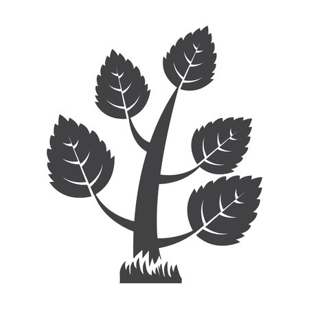 tree crown: tree black simple icon on white background for web design