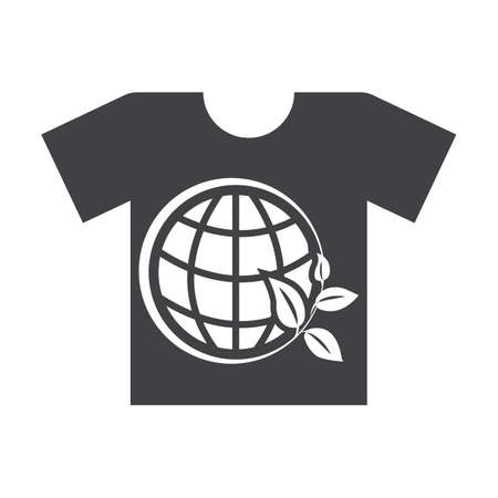 bionomics: t shirt black simple icon on white background for web design