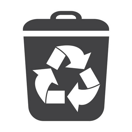 bionomics: container black simple icon on white background for web design