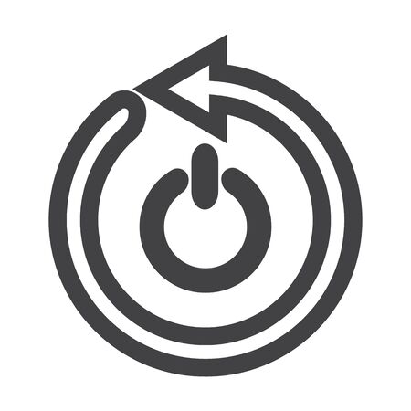 arrow black simple icon on white background for web design 向量圖像