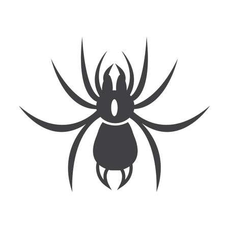 spider web: spider black simple icon on white background for web design