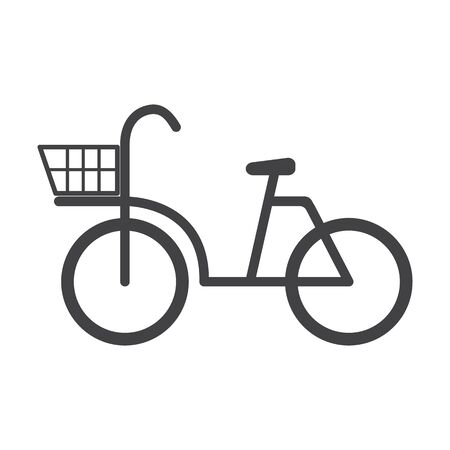 bionomics: bicycle black simple icon on white background for web design