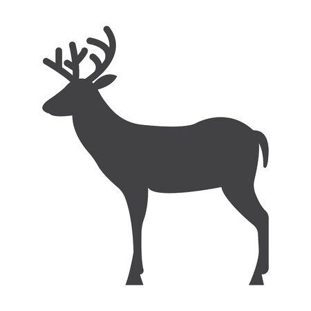 hooves: deer black simple icon on white background for web design