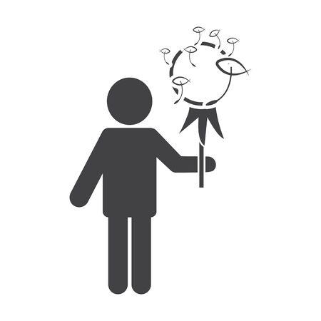 bionomics: dandelion black simple icon on white background for web design