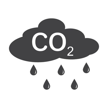 bionomics: cloud black simple icon on white background for web design