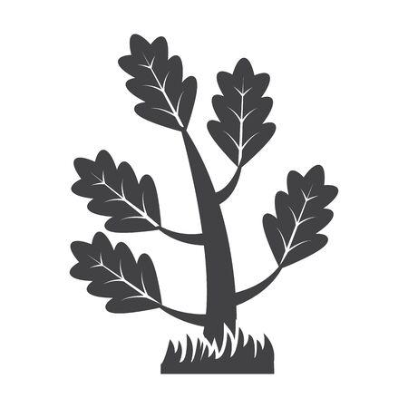 bionomics: tree black simple icon on white background for web design